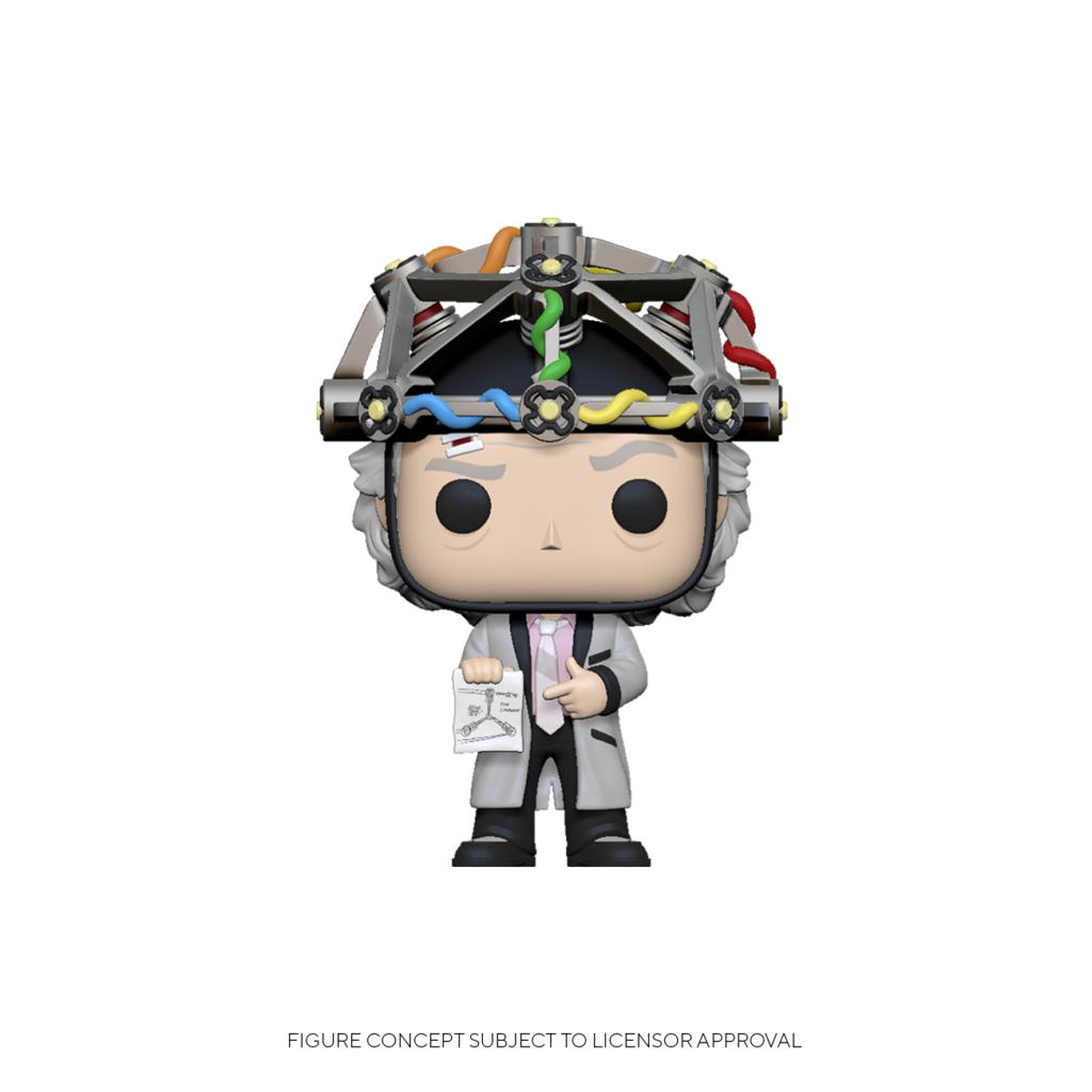 Funko pop Doc cientifico casco Regreso al futuro