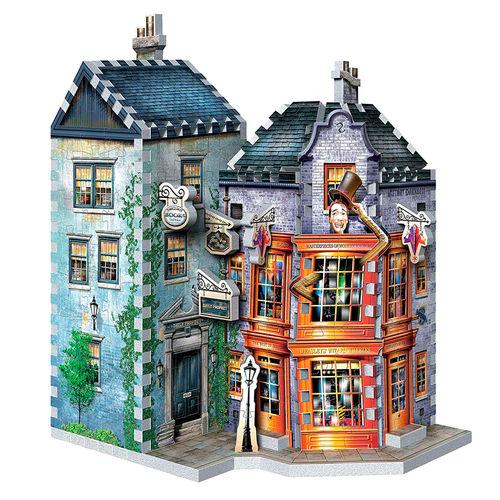 Wrebbit 3D- Tienda de Sortilegios Weasley y Oficina del Diario El Profeta Puzzle 3D, Multicolor Colección Callejón Diagón.
